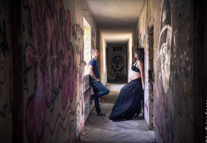 Grossesse Urbex – Coralie & Arnaud