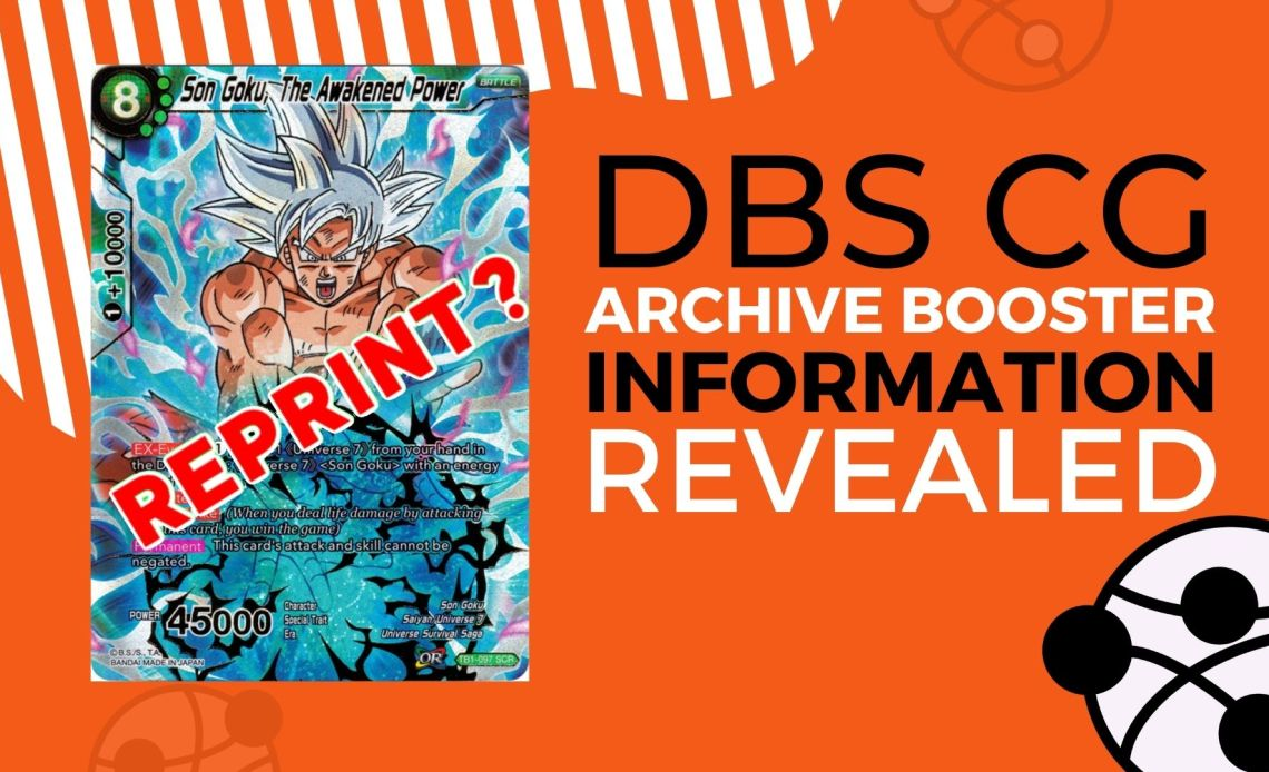 DBS CG Archive Booster