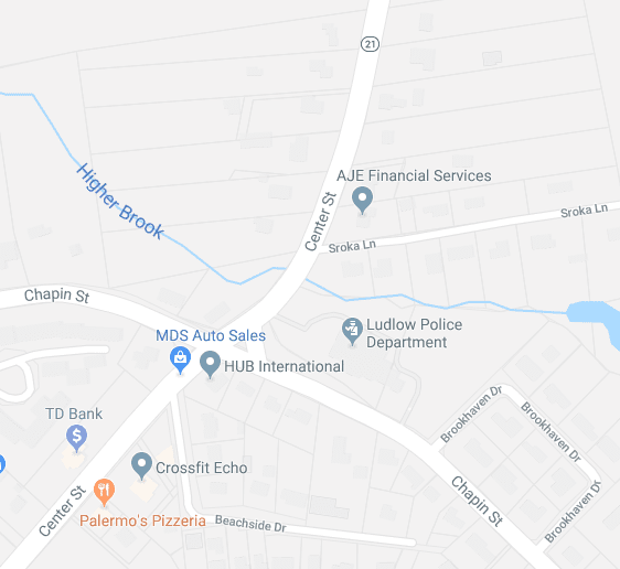 Ludlow Police Issue Traffic Advisory for Intersection of