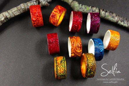 Free Tutorial: Polymer clay rings and their paint with alcohol ink