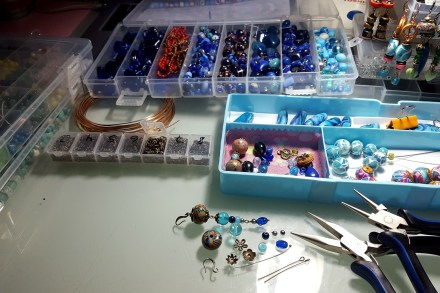 Long Earrings. On my table today
