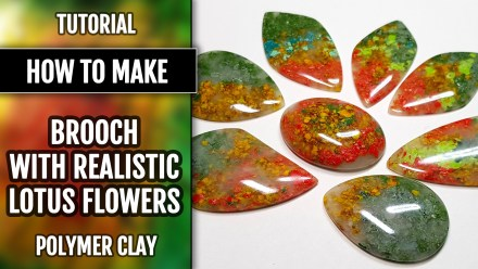 Faux Moss Agate Gemstone Cabochons