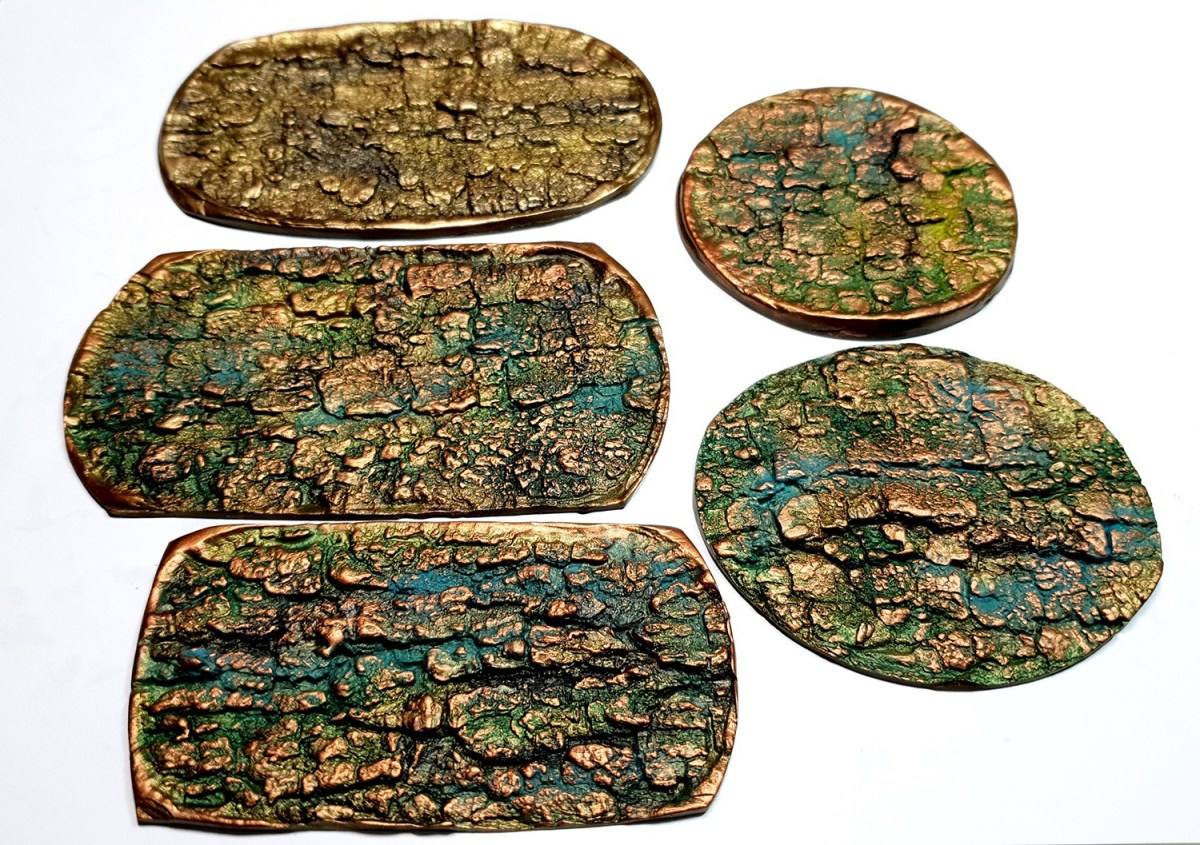 """Bracelet Design with """"Cracked Tree Bark"""" and """"Fern Leafs"""" textures 3"""