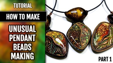 ($5+) Video Tutorial: How to make Polymer Clay Unusual pendant