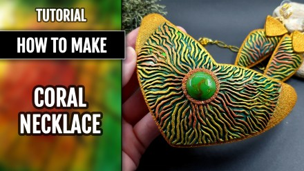 Free Tutorial: Coral Necklace using hand-carved Coral Textures