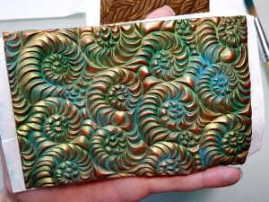 Video Tutorial: Easy Patina effect on Polymer Clay! +3 additional ways of coloring textured polymer clay veneer