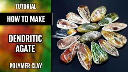 (35+) Video Tutorial: How to make Polymer clay Faux Dendritic Agate – Stone Imitation