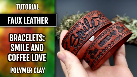 ($5+) Video Tutorial: How to make Polymer Clay Faux Leather Bracelets with FIMO!