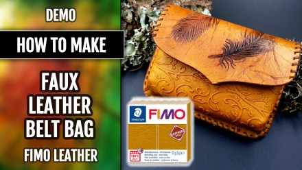 DEMO Faux Leather Belt Bag – Polymer clay FIMO