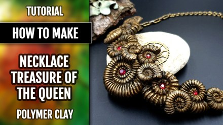 Video Tutorial: How to make Amazing Polymer Clay Necklace with faux Ammonites.