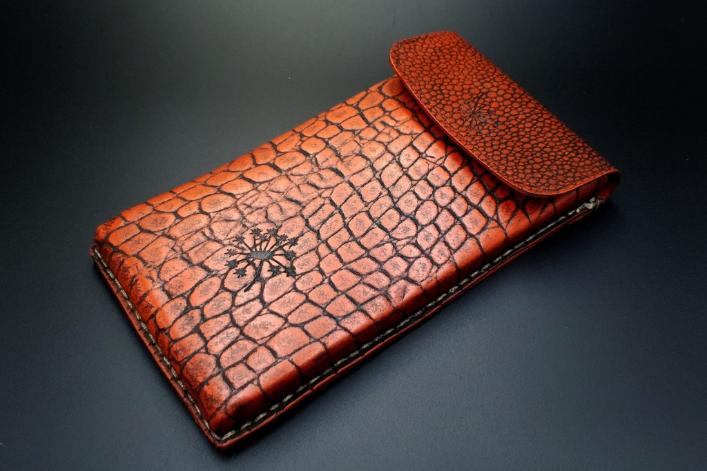 My 1st Faux Leather Phone Case from amazing polymer clay Fimo Leather Effect 9