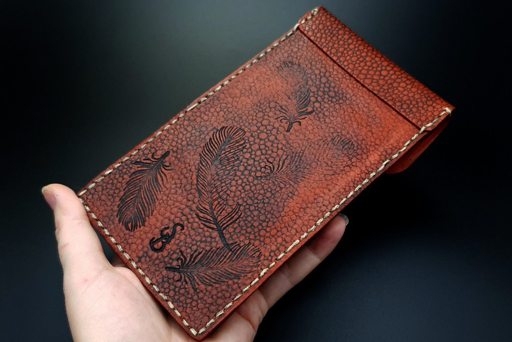 My 1st Faux Leather Phone Case from amazing polymer clay Fimo Leather Effect 10