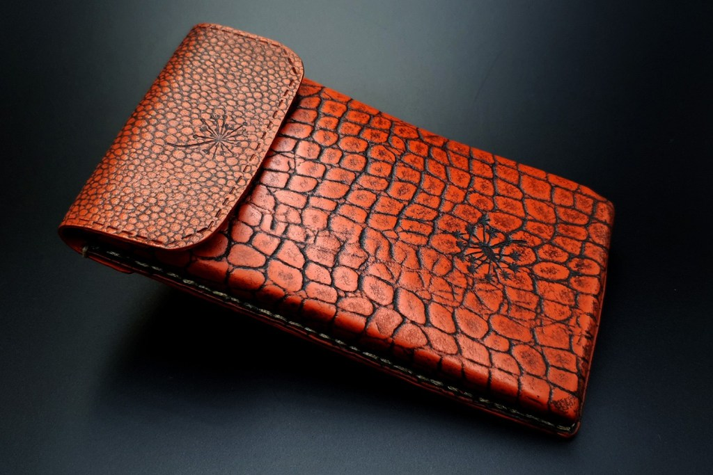 My 1st Faux Leather Phone Case from amazing polymer clay Fimo Leather Effect 8