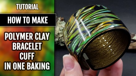 (10+) Video Tutorial: How to make Polymer clay Bracelet cuff in one baking! (Version 2)