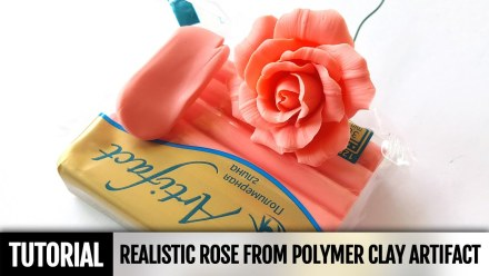 Free Tutorial: Realistic Rose Flowers from polymer clay