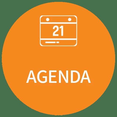 cercle orange agenda 2 - Bienvenue