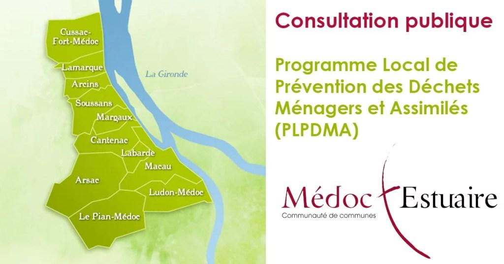 Consultation publique Programme Local de Prevention des Dechets Menagers et Assimiles Une - Bienvenue