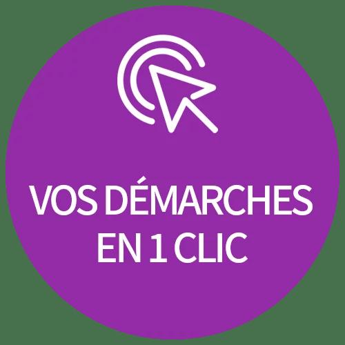 cercle violet demarches 1clic 6 - Bienvenue