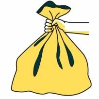 sac jaune 300x300 - Ordures ménagères & déchetterie