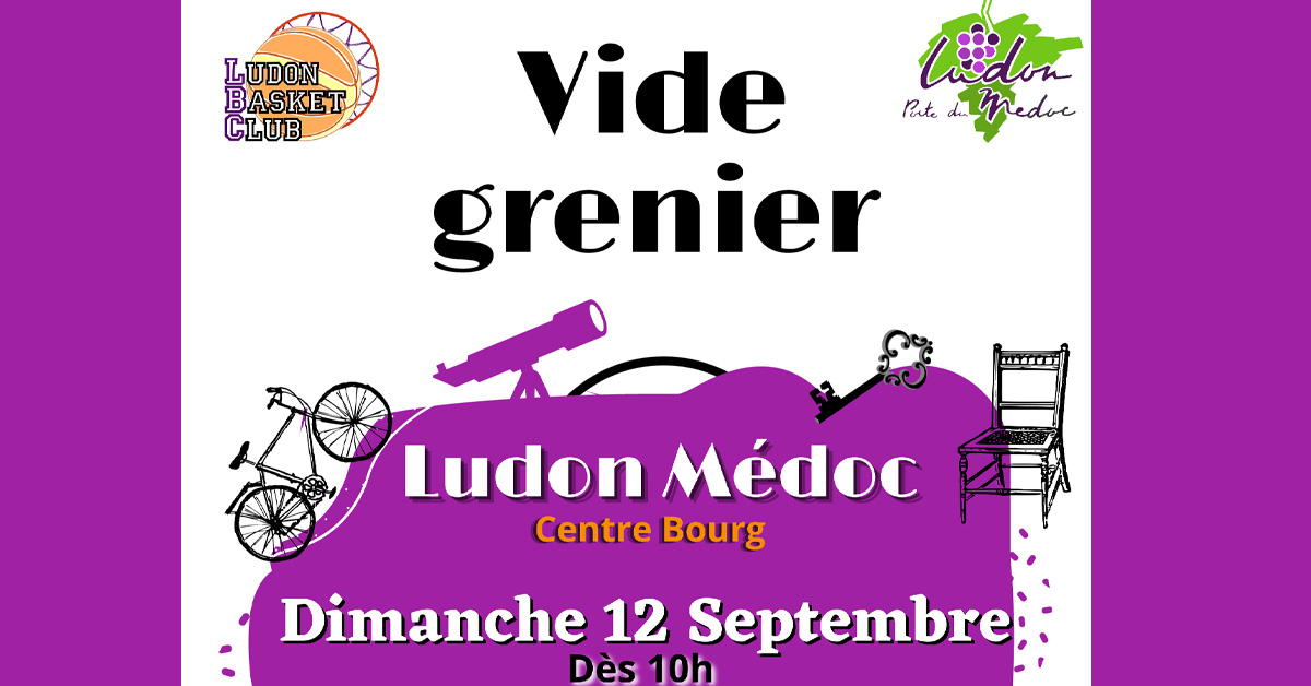vide grenier 2021 09 12 Une 01 - Vide grenier organisé par Ludon Basket Club