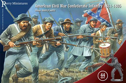 Caja de la infanteria del ejercito confederado de perry miniatures