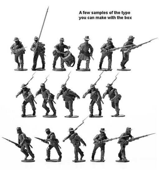 Miniaturas de la caja del regimiento confederado de Perry Miniatures