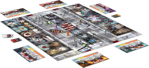 Tablero de Zombicide de Edge entertaiment