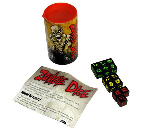 Componentes de Zombie dice