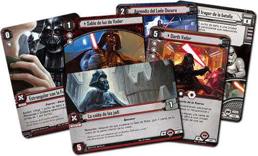 Set de cartas objetivos de Star wars
