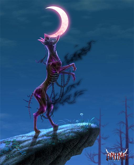 Ilustracion del sabueso infernal para anima tactics