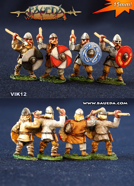 Nuevos vikingos de 15 milímetros de Baueda