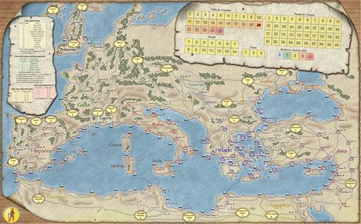 Mapa de imperios del mediterraneo