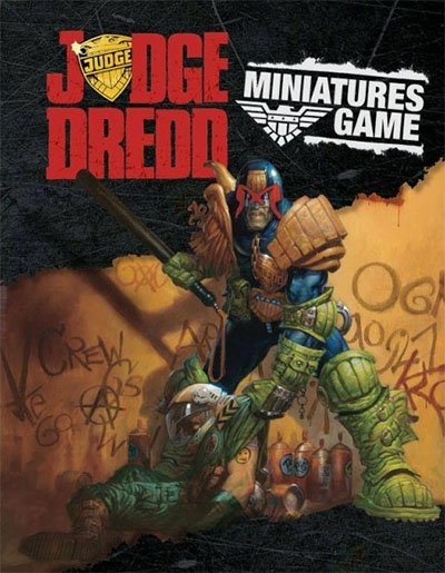 Portada del libro de reglas de Judge Dredd