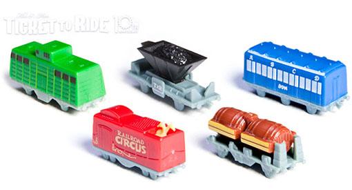 Trenes para la edición 10º aniversario de aventureros al tren