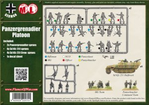Panzergrenadier Platoon, contenido caja
