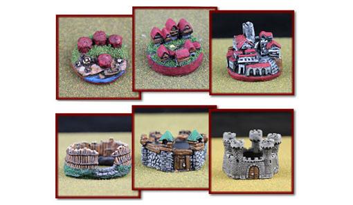 Miniaturas de los edificios de War of kings