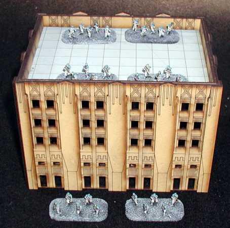 Dropzone Commander, edificios 3Sally 4th