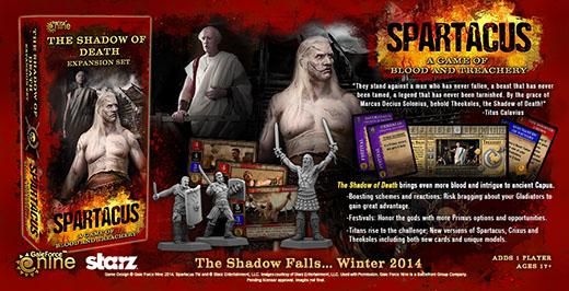 Componentes de la expansión spartacus the shadow of death