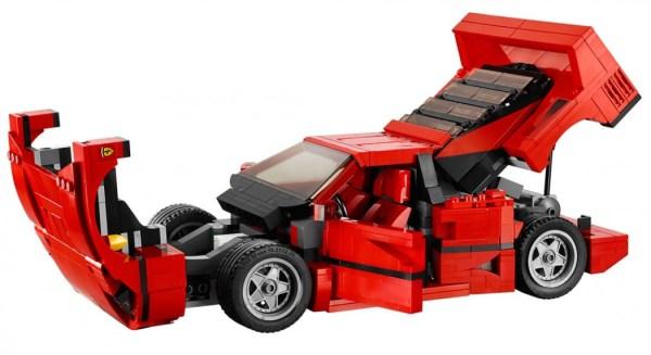 Ferrari F40 de LEGO abierto