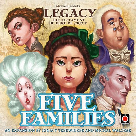 portada de Legacy five families de Portal games