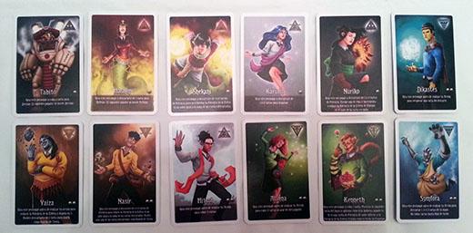 Cartas de magos de Arcanya Magic Academy