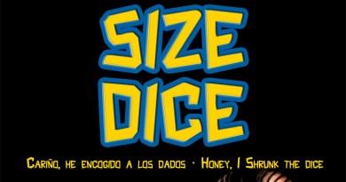 Fragmento de la portada de Size Dice