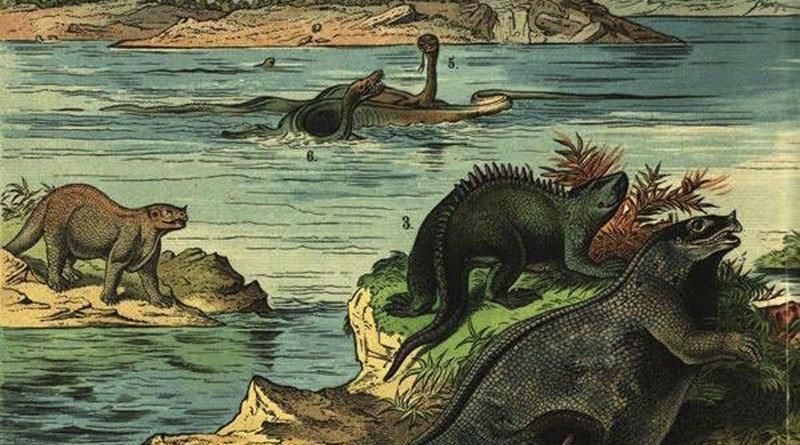 Imagen de dinosaurios del siglo XIX