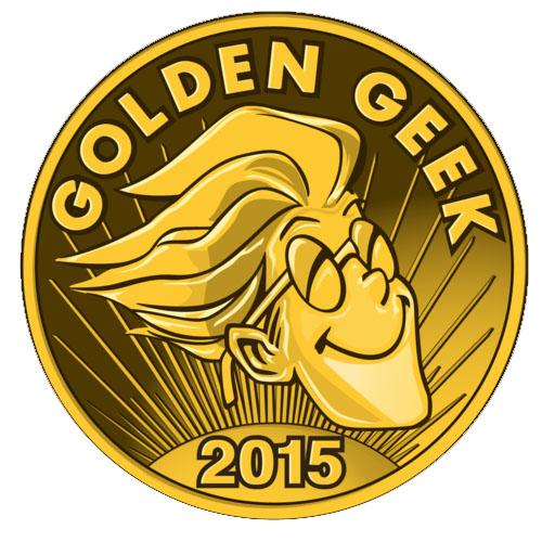 Logotipo de los ganadores del golden Geek 2015