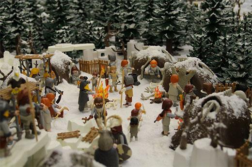 El poblado de los salvajes de juego d etronos en playmobil