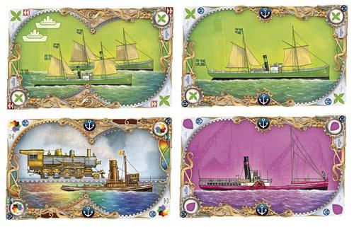 Cartas de barcos de Ticket to Ride Rails and Sails