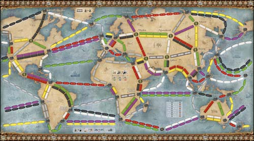 Mapa de Ticket to Ride Rails and Sails