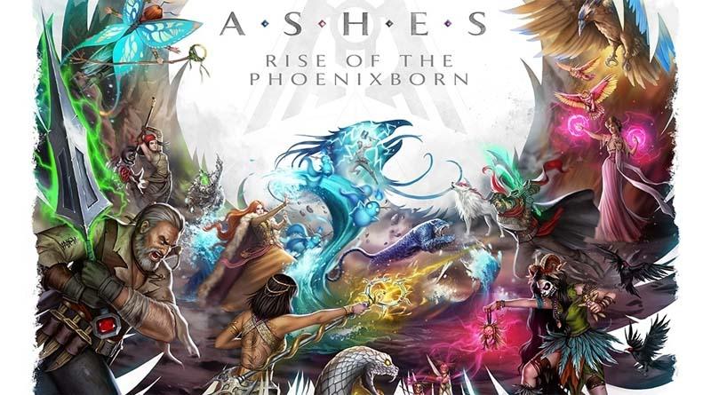 Detalle del arte gráfico de Ashes Rise of the Phoenixborn