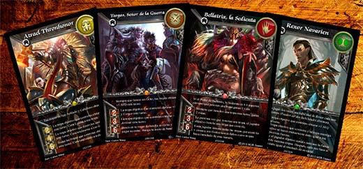 cartas de héroes de warlords of terra
