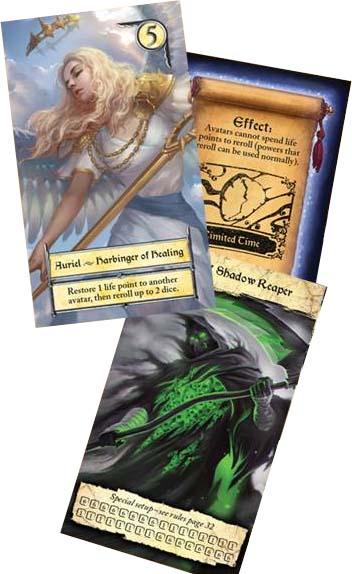Cartas de la edición de Alderac de Eight Epics